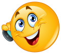 Smiley am Telefon